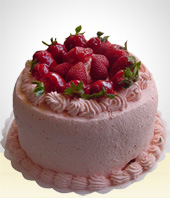 Love and Romance - Strawberry Cake  - 20 Servings