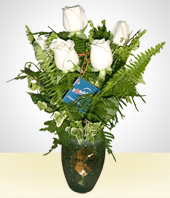 Roses - White Rose Arrangement
