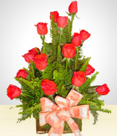 Love and Romance - Liberty: 18 Roses Arrangement