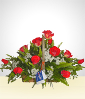 Roses - Basket Arrangement