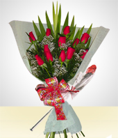 Special Combos Offer - Roses Bouquet and Chocolate Rose