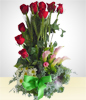 Variety: Arrangement of Roses and Lilies of the Nile: