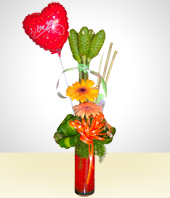 Love and Romance - Gerberas Arrangement