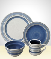 Set of Dishes - Complete 32 pieces Oxford Set