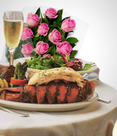 Deluxe Gifts - Special Offer: Buffet Dinner + 12 Roses