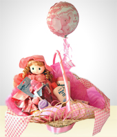 Babies - Welcome Baby Gift Bath Basket- Girls