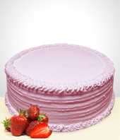 Cakes - Strawberry Cake - 12 Portions