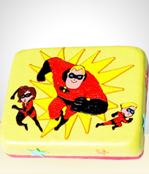 The Incredibles Birthday Cake -20 Servings