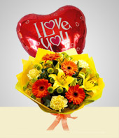 Special Combos Offer - Spring Bouquet  + Balloon
