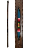Leather belt with antique awayo - embossed