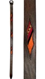 Leather belt with antique awayo- multicoloured