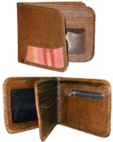 Leather wallet- multicoloured antique awayo