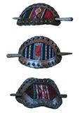 Hair barrette with antique awayo- 3 piece set
