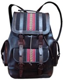 Leather backpack with awayo - for travelling