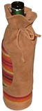 Suede wine cover  with awayo- brown