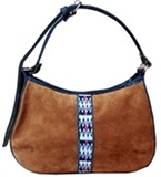Morelia  leather purse - awayo and suede details