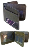 Leather wallet with antique awayo
