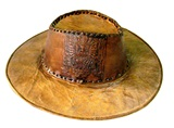 Leather hat - embossed detail