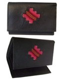 Women's leather wallet ''Andean Cross''