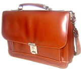 Brown Briefcase 100% Leather
