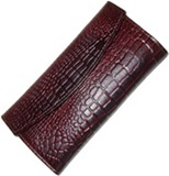Leather Wallet Reptile Printing