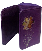 "Leather Wallet ""Mónica"" - Purple"