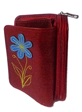 "Leather Wallet ""Mónica"" - Red"