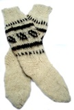 Alpaca Socks - White