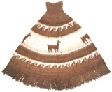 Andean Poncho - brown
