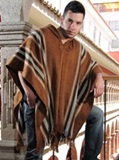 Brown Alpaca Poncho