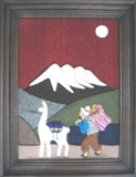 Peasant Painting with Illimani