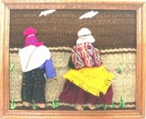 Artisan wall hanging with andean couple