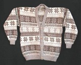 Alpaca Cardigan - Brown with stripes