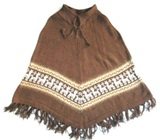 Alpaca Poncho for Kids (4 to 6 years)- brown