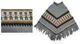 Alpaca Poncho for Kids (4 to 6 years)- gray