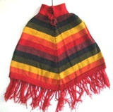 Multicoloured Poncho - kids (4 to 6 years)
