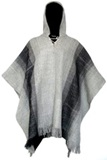 Poncho color gris