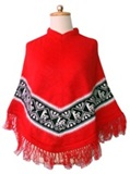Red Poncho - Llamas decoration