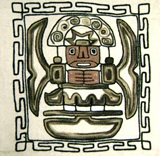&#34Tiwanaku God&#34 pillow case