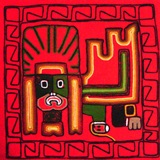 Red &#34chasqui&#34 pillow case