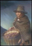 Old Woman With Potato basket