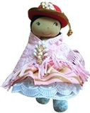 Cholita rag doll- elegantly dressed
