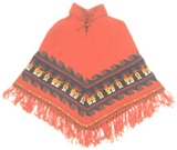 ORANGE BABY ALPACA PONCHO