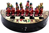 Ceramic chess set - round board