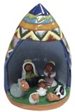 Nativity scene with &#34Macha ll&#39uchu&#34 manger