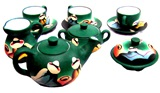 Tea set &#34valley cholitas&#34 - green
