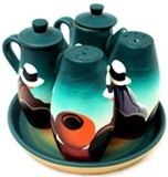 Green cruet set -  valley cholitas