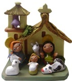 Andean nativity scene - Church