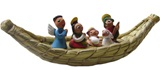 Nativity scene in totora - Small