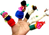 Set of 5 andean finger puppets